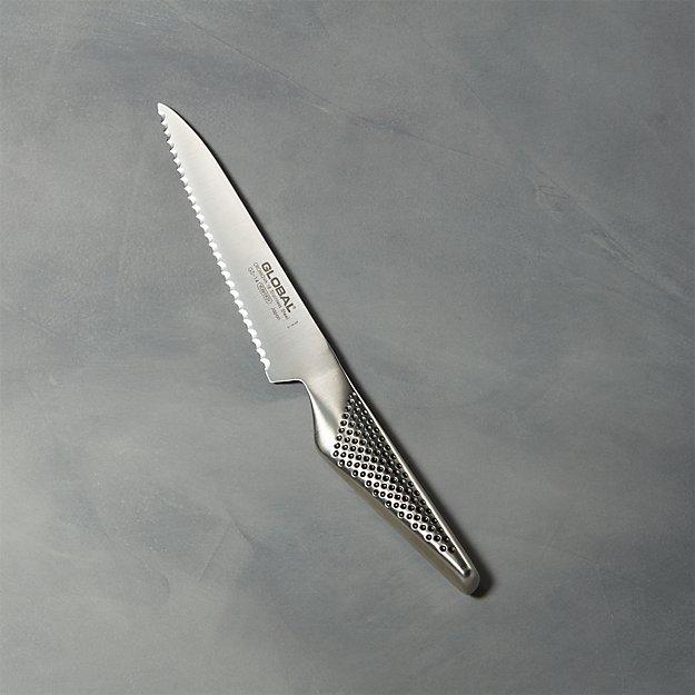 "Global ® 6"" Serrated Utility Knife - Image 1 of 4"