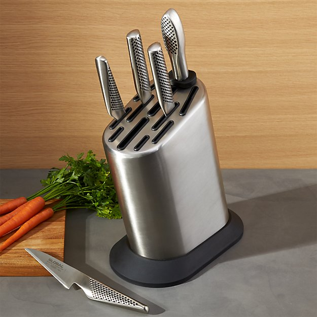 Global ® 6-Piece Knife Block Set