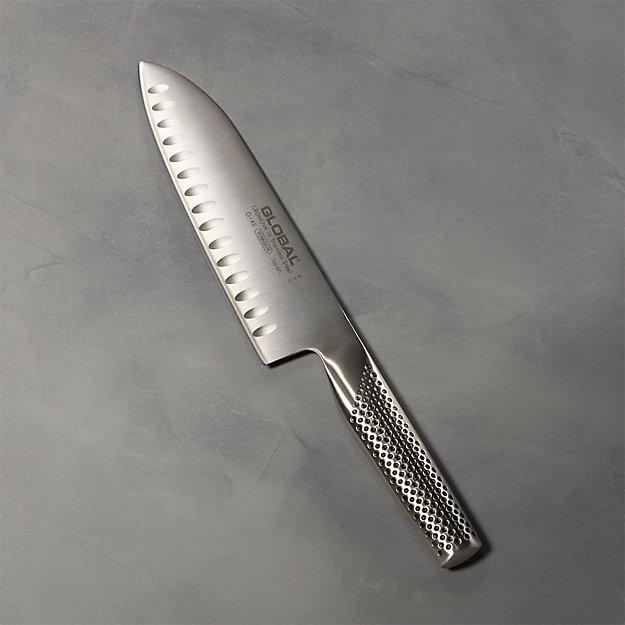 "Global ® 7"" Hollow-Ground Santoku Knife - Image 1 of 4"