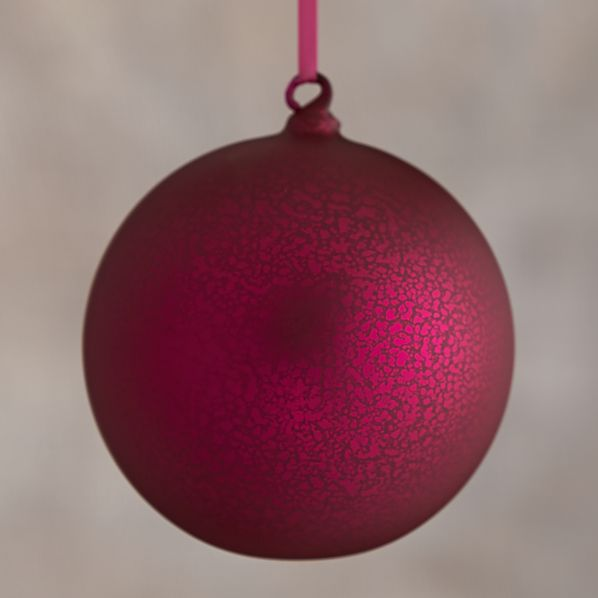 Hot Pink Global Opaque Mercury Glass Ball Ornament