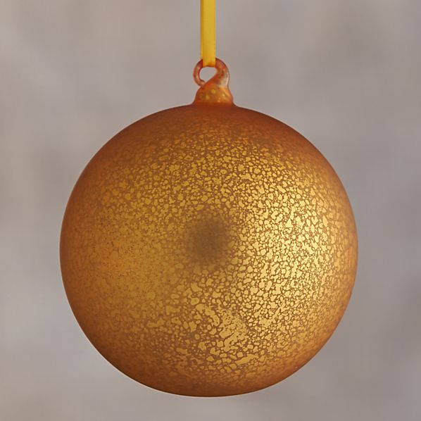 Yellow Global Opaque Mercury Glass Ball Ornament