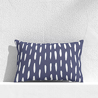 "Global Dash Navy 20""x13"" Outdoor Pillow"