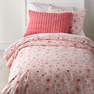 Pretty Prints Pink Floral Twin Duvet Cover