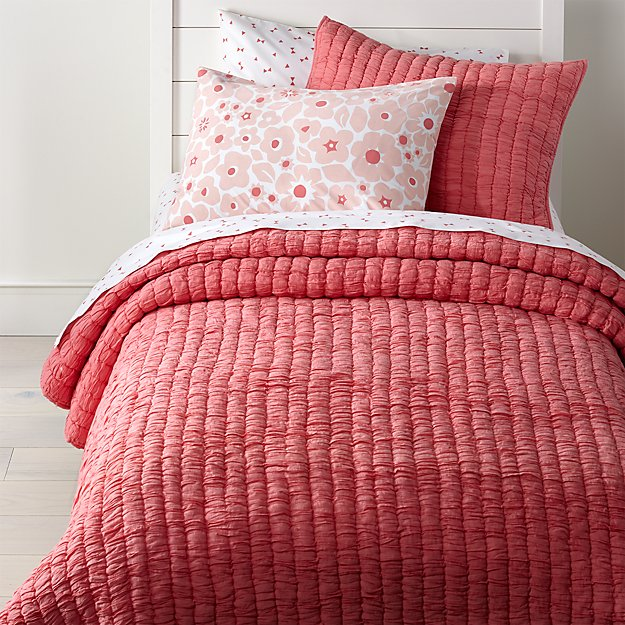 Pretty Prints Pink Twin Quilt Reviews Crate And Barrel