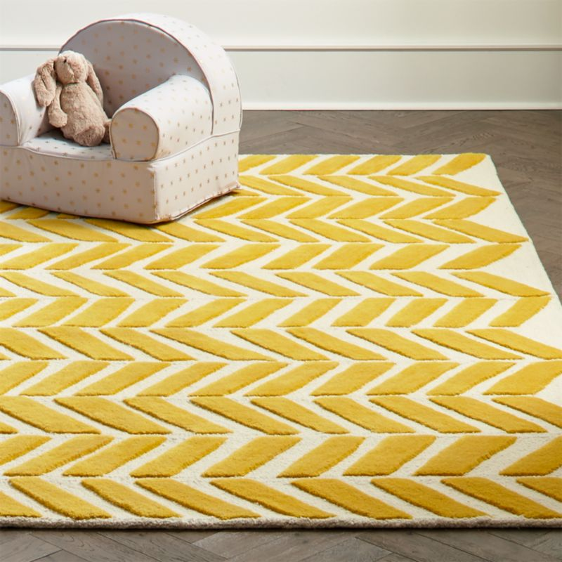 Yellow Chevron Rug Crate And Barrel