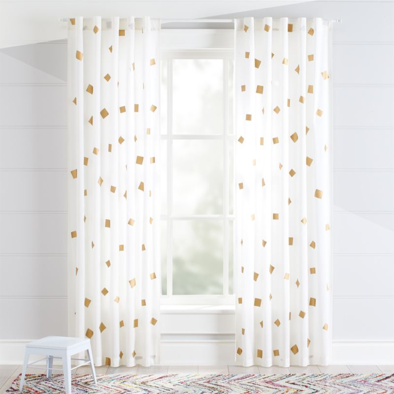 Gold Confetti Curtains Crate And Barrel