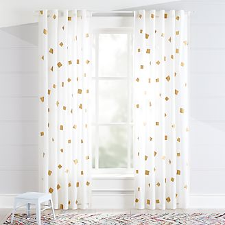 Gold Confetti Curtains Kids