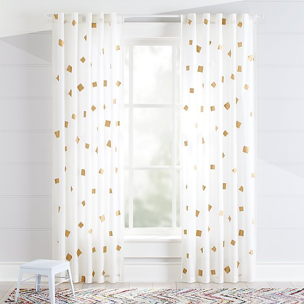 white and gold curtains Gold Confetti Curtains | Crate and Barrel white and gold curtains