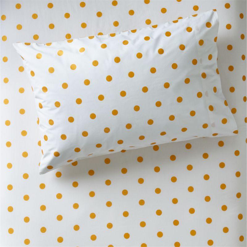 Organic Gold Polka Dot Pillowcase Reviews Crate And Barrel