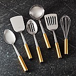 Gold-Handled Kitchen Utensils, Set of 6