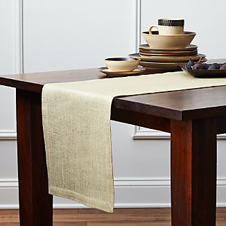 Gold Jute Table Runner 90""
