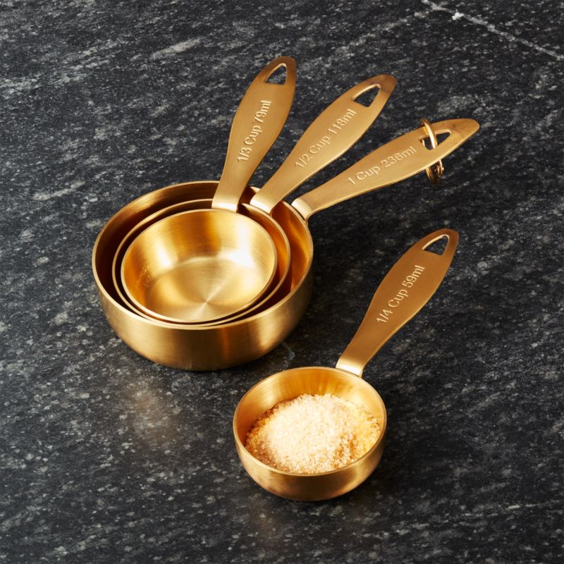 Gold Measuring Cups Set Of 4 Reviews Crate And Barrel
