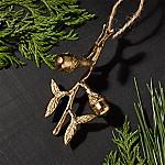 Gold Metal Acorn Branch Ornament