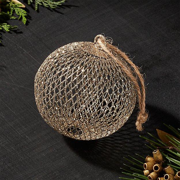 Gold Net Ball Ornament
