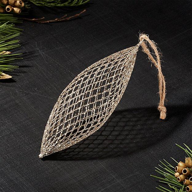 Gold Net Drop Ornament
