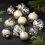 Gold Ornaments, Set of 12