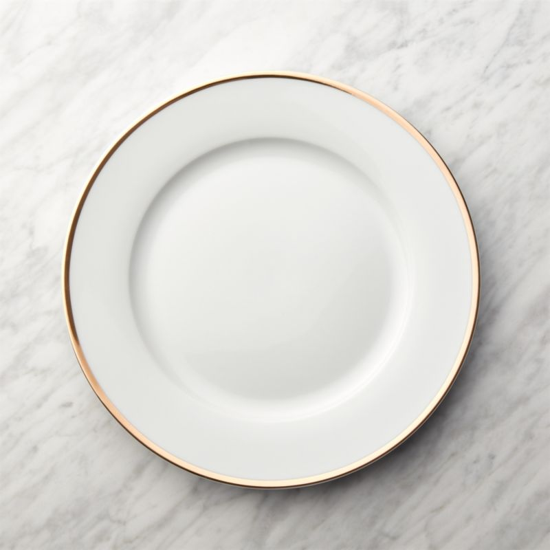 Gold Rim Buffet Plate & Christmas Dishes and Table Decorations | Crate and Barrel