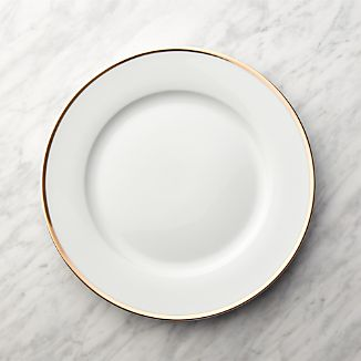 Gold Rim Buffet Plate