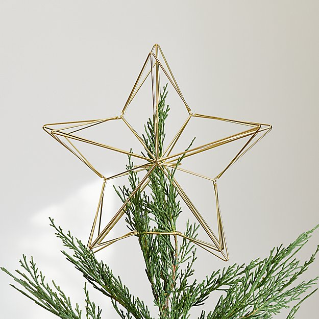 Gold Star Tree Topper - Image 1 of 1