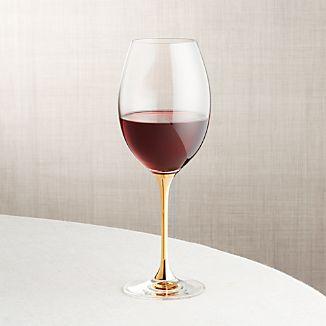 Gold Stem Wine Glass