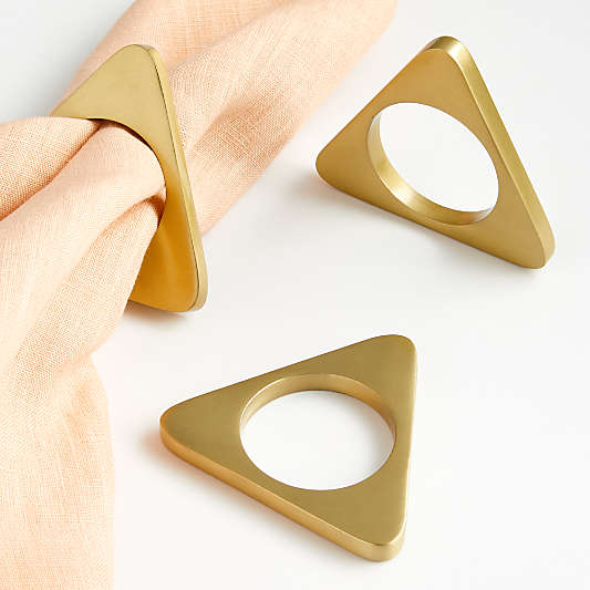 Gold Triangle Napkin Ring