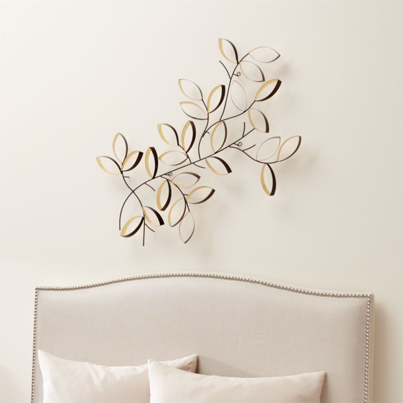 Golden Leaves Wall Art Crate And Barrel