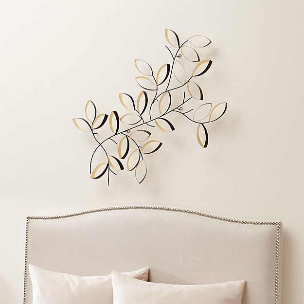 Leaf Wall Art golden leaves wall art | crate and barrel