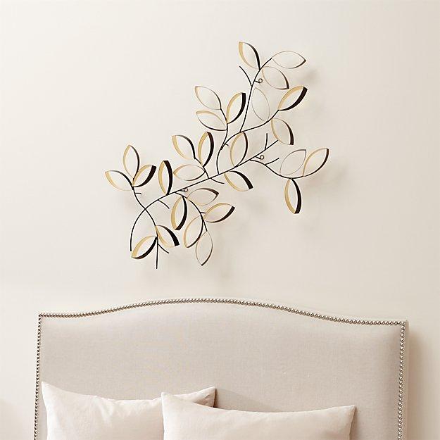 Design Decor Shopping Appstore For: Golden Leaves Wall Art