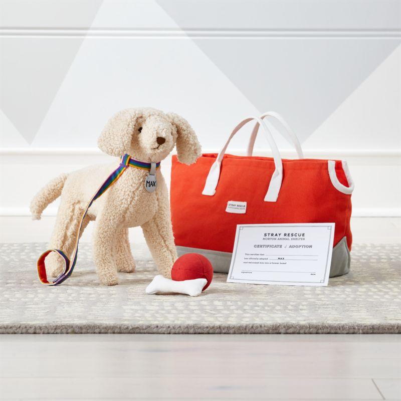 Goldendoodle Stuffed Animal Adoption Set by Crate&Barrel