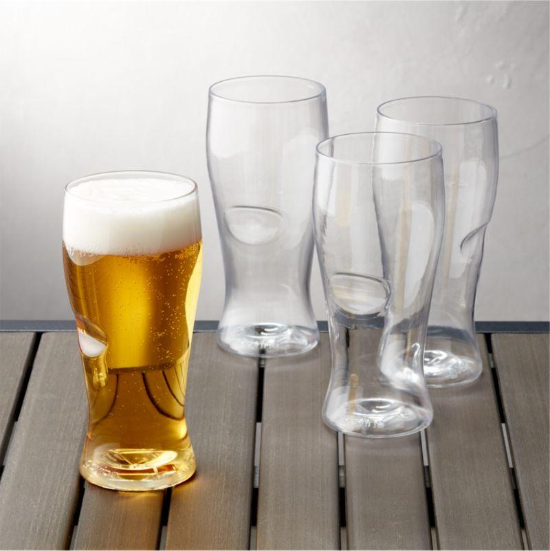 govino plastic beer glasses set of 4