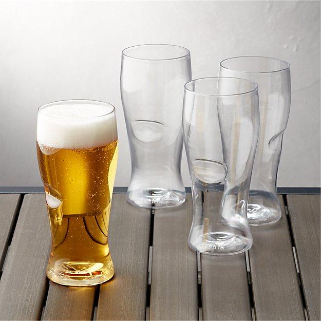 Govino ® Shatterproof Plastic Beer Glasses, Set of 4