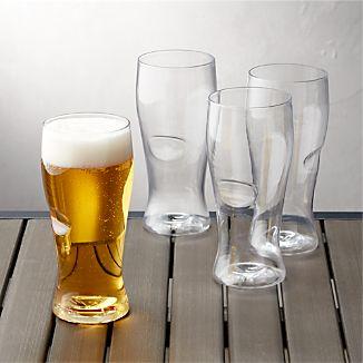 Govino ® Shatterproof Plastic Beer Glasses Set of 4