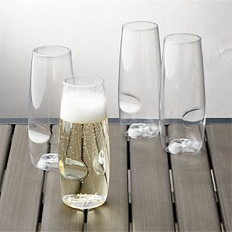 Govino ® Shatterproof Plastic Stemless Champagne Glasses, Set of 4