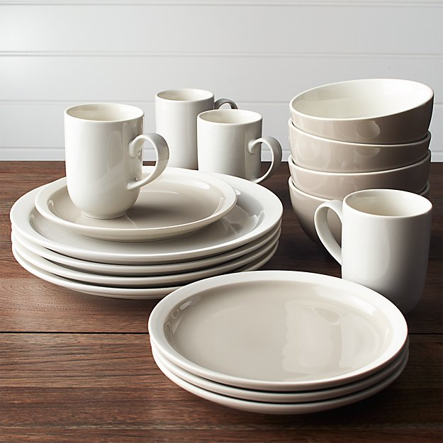 Graeden 16 Piece Dinnerware Set Reviews Crate And Barrel