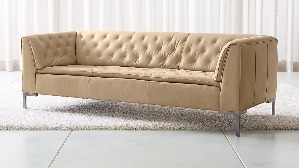 Grafton Leather Chesterfield Sofa Reviews Crate And Barrel