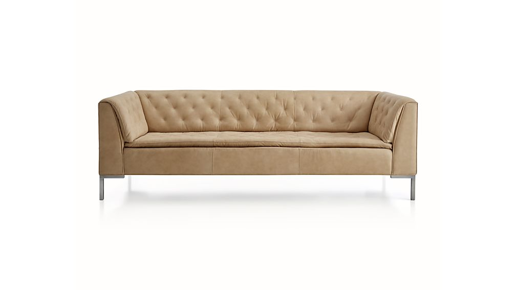 Grafton Leather Chesterfield Sofa Crate And Barrel