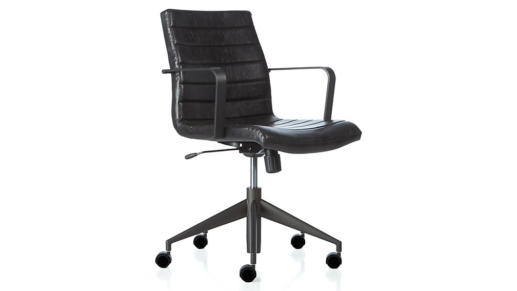 graham black office chair | crate and barrel
