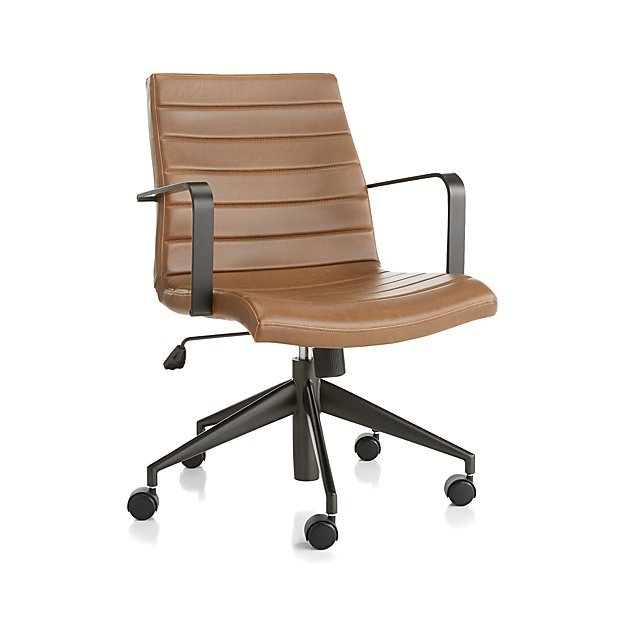 Graham Brown Leather Desk Chair - Image 1 of 7