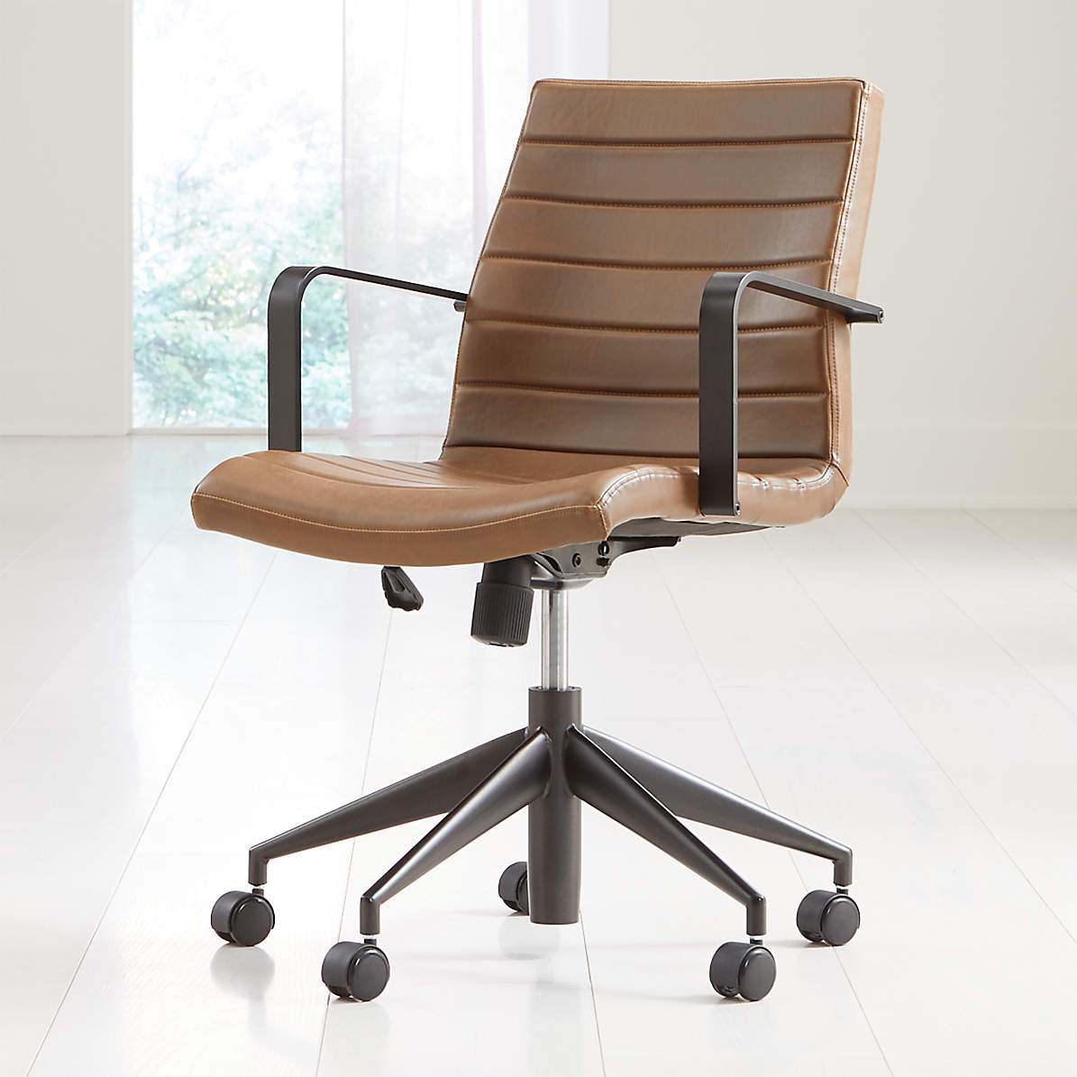 Graham Brown Leather Desk Chair Crate And Barrel