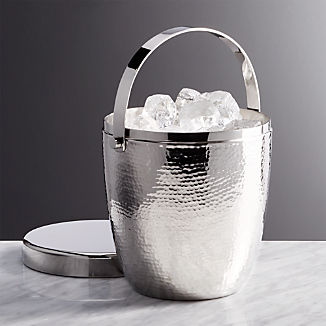 Graham Hammered Metal Ice Bucket