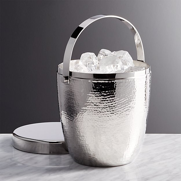 Graham Hammered Metal Ice Bucket Reviews Crate And Barrel