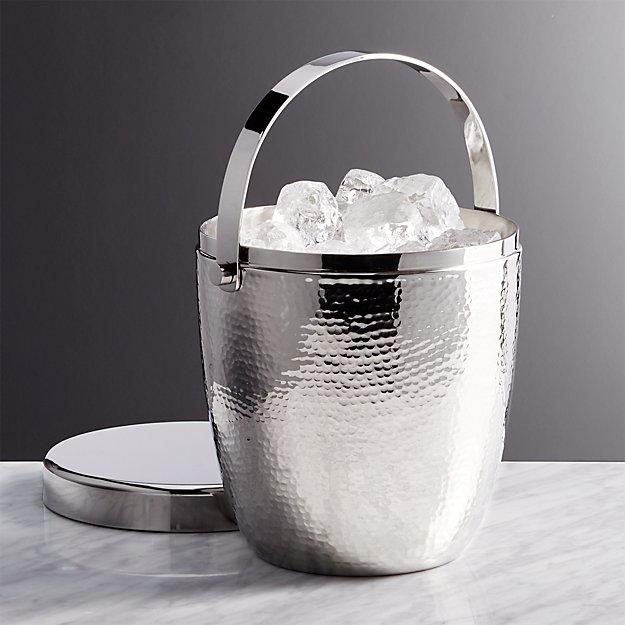 Graham Hammered Metal Ice Bucket - Image 1 of 6