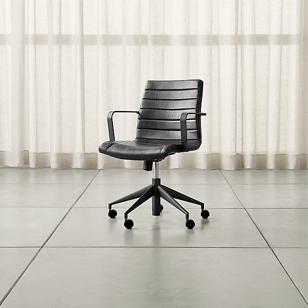 Graham Black Office Chair - Image 1 of 9