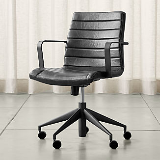 Graham Black Office Chair & Modern Home Office Furniture | Crate and Barrel