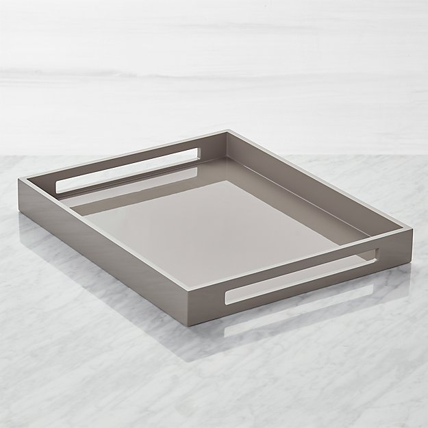 Grant Grey Serving Tray - Image 1 of 8