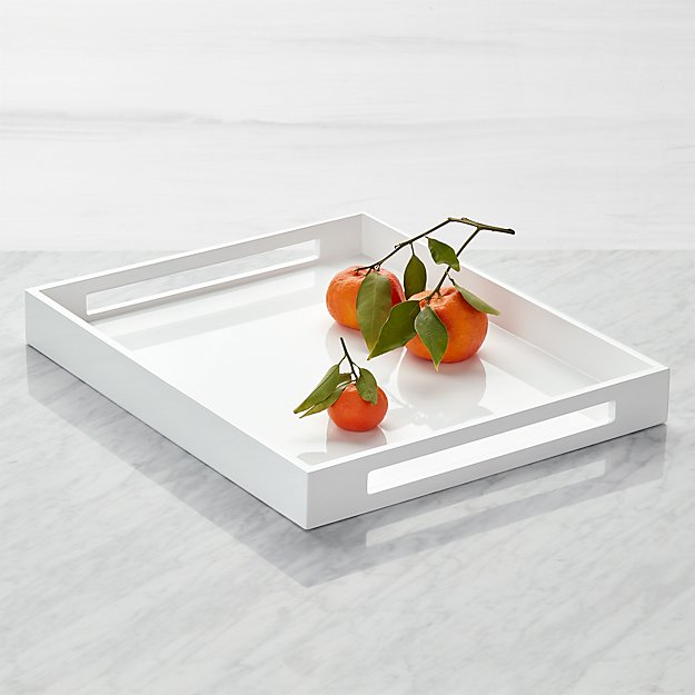 Grant White Serving Tray - Image 1 of 8