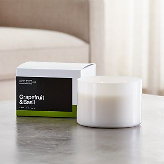 Grapefruit and Basil 3-Wick Scented Candle