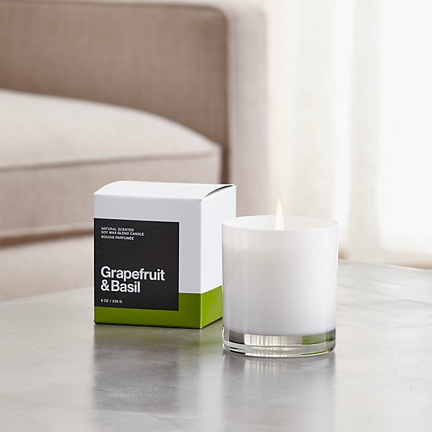 grapefruit and basil scented candle reviews crate and barrel