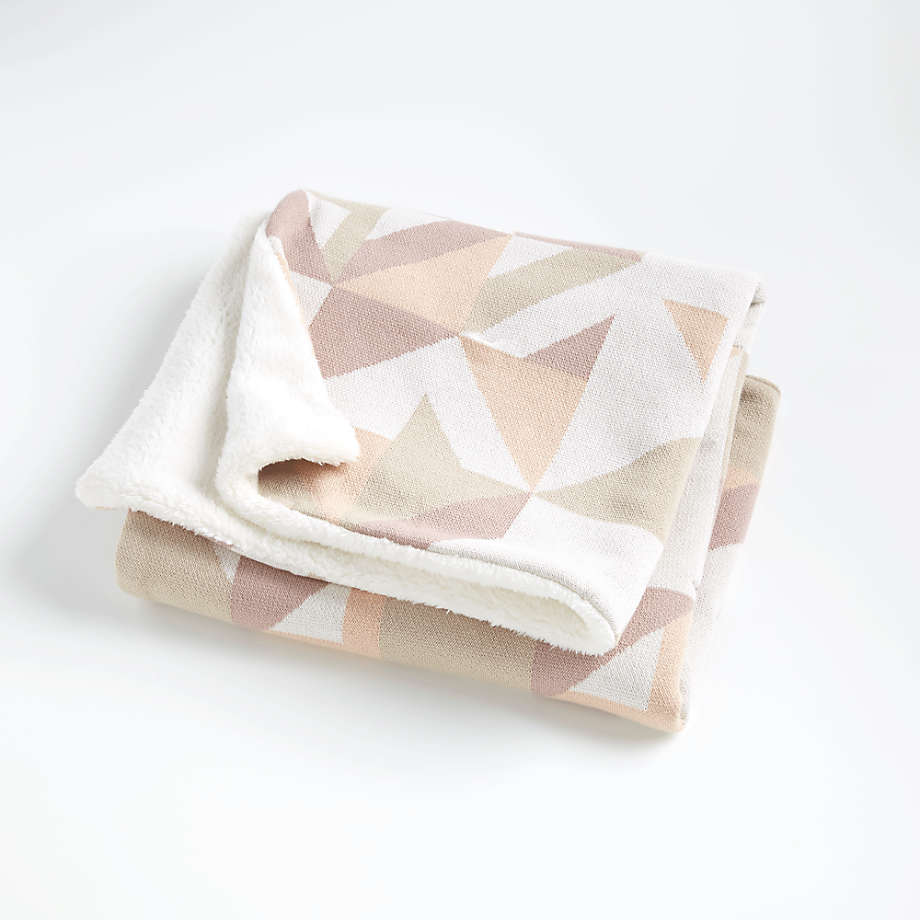 Pink Graphic Fur Baby Blanket + Reviews   Crate and Barrel ...