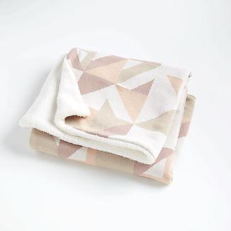 Pink Graphic Fur Baby Blanket